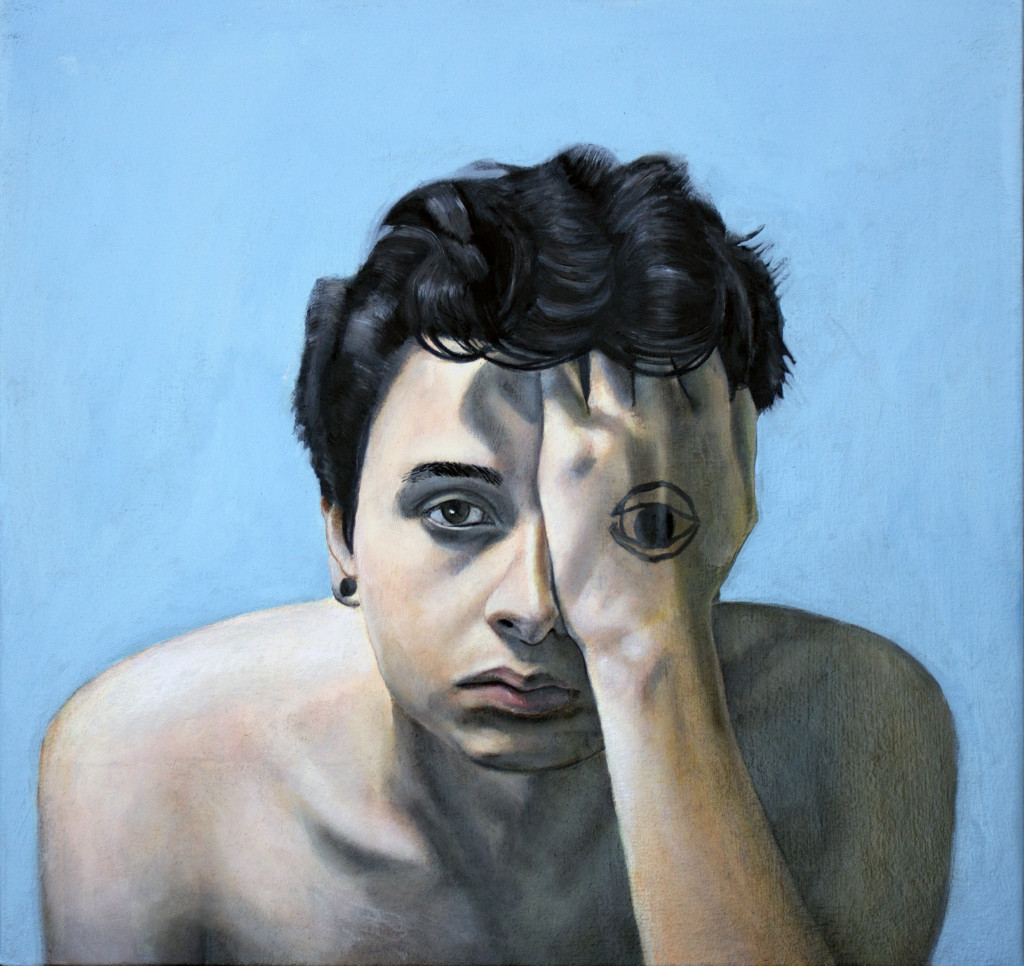 Self Portrait - Cedric Chambers - 24 x 24 - Oil on Canvas