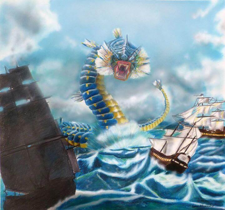 Gyrados Sinking some ships