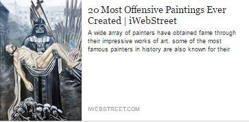 Most offensive painting ever