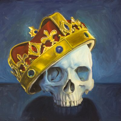 Skull wearing a Crown Oil Painting