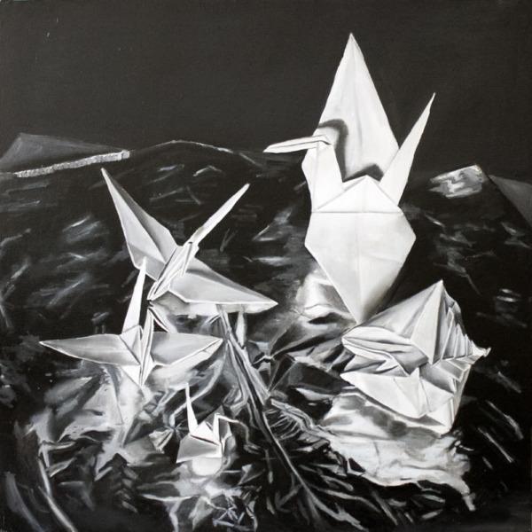 """Origami Birds"" (Oil, 44×44)"