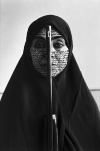 Rebellious Silence (1994). B&W RC print & ink, photo by Cynthia Preston. Copyright Shirin Neshat. Courtesy Gladstone Gallery, New York and Brussels.