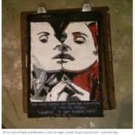 Pop Art painting of Lana Del Rey.