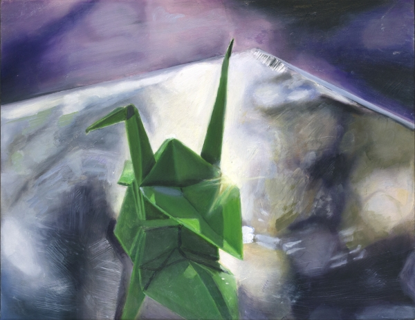 """""""Origami at Sunset"""" (Oil, 11×14)"""