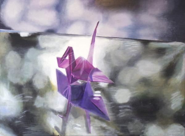 Original oil Painting Contemporary Art Origami