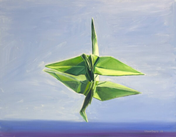 Origami oil painting