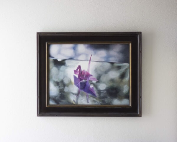 Origami at Sunset Framed on Wall 111