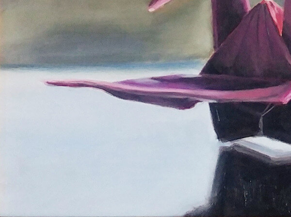 """""""Origami on Pink"""" (Oil, 11×14)"""