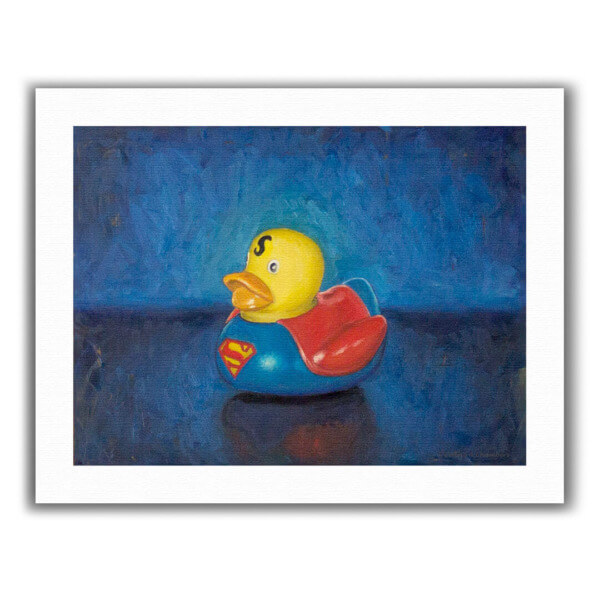 Superman Duckie – Oil, 11×14