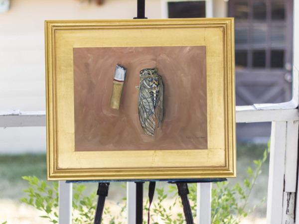 Original Cicada Oil Painting