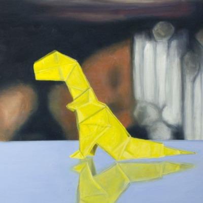 """""""T-Rex Study"""" (Oil, 18×24)"""