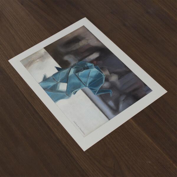 """Origami Elephant"" Fine Art Print"