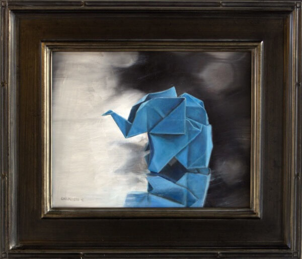 """Origami Etude no. 5"" (Oil, 11×14)"