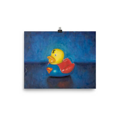 """Super Man Duck"" – Luster Print"