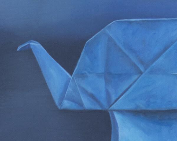 Blue Origami Trunk