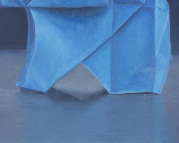 Blue Origami Feet